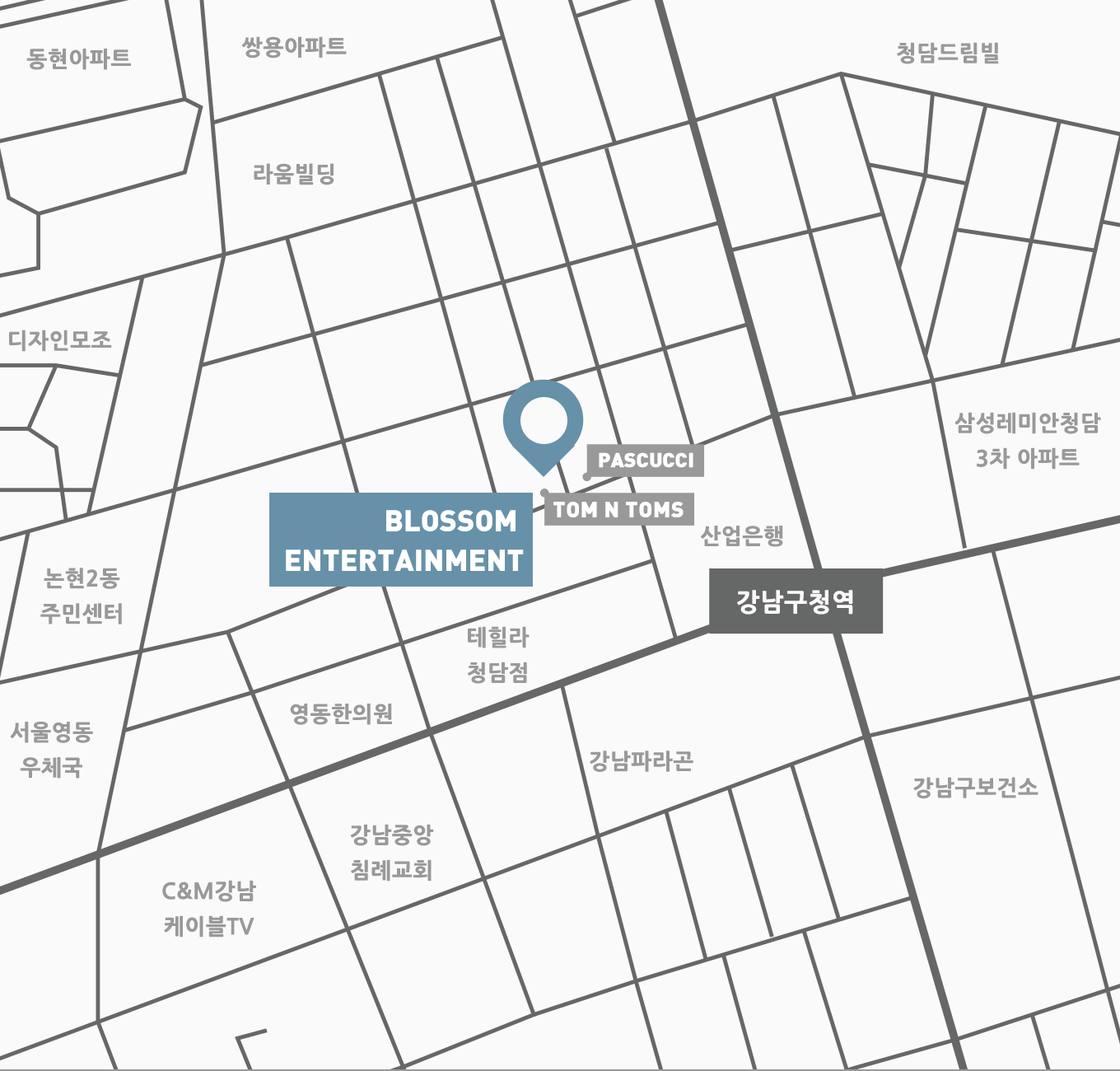 blossom entertainment map